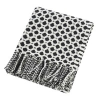Tweedmill Crossroads Wool Throw Black