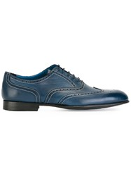 Paul Smith Brogue Detail Oxford Shoes Blue