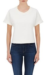 Skin Women's Cotton Blend French Terry Top White