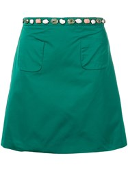 N 21 No21 Gem Embellished Skirt Green