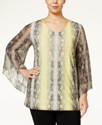 Alfani Plus Size Angel Sleeve Snakeskin Print Top Only At Macy's Ombre Snake