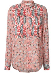 Michel Klein Liberty Floral Shirt Red