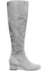 Halston Heritage Jennifer Suede Knee Boots Light Gray