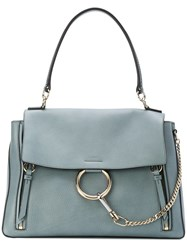 Chloe Small Faye Day Bag Cotton Calf Leather Blue