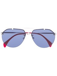 Tommy Hilfiger Aviator Shaped Sunglasses 60