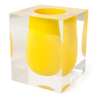 Jonathan Adler Bel Air Yellow Scoop Vase