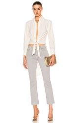 Norma Kamali Tie Front Shirt In White