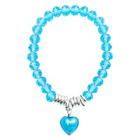 Martick Murano Heart And Crystal Bracelet Turquoise