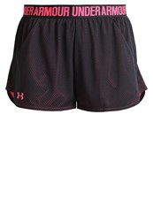 Under Armour Play Up Sports Shorts Anthracite Pink Shock