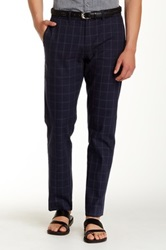 Original Penguin Windowpane Twill Pant Black