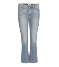 Paige Colette Cropped Slim Flared Jeans Blue