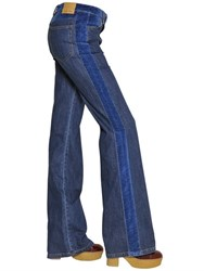 See By Chloe Cotton Denim And Velvet Jeans