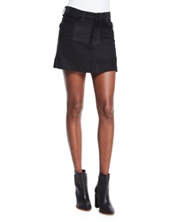 Zadig And Voltaire Jell Deluxe Patchwork Skirt Noir