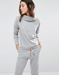 Vero Moda Shimmer Roll Neck Sweatshirt Light Grey