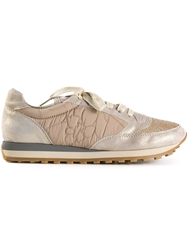 Brunello Cucinelli 'Metallic Sparkle' Sneakers Nude And Neutrals