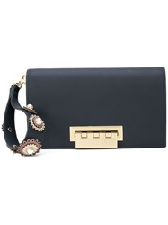 Zac Posen Earthette Clutch Blue