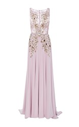 Georges Hobeika Sleeveless Beaded Gown Purple