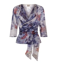Armani Collezioni Sheer Organza Floral Jacket Female Multi