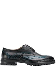 Lanvin Cut Out Derby Shoes Black