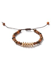 Topman Brown Semi Precious Beaded Thread Bracelet