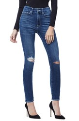 Good American Plus Size Waist High Waist Ankle Skinny Jeans Blue 179