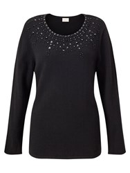 East Embellished Jumper Black