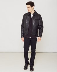 Schott Casual Leather Jacket Black