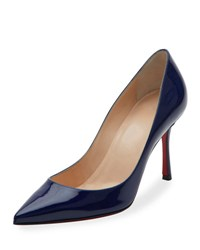 Christian Louboutin Decoltish Patent 85Mm Red Sole Pump Black