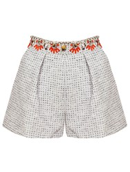 Relish Tyler Floral Shorts White