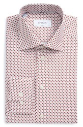 Eton Men's Big And Tall Slim Fit Ladybug Print Dress Shirt Red