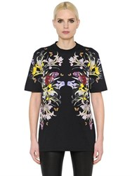 Givenchy Flowers Printed Cotton Jersey T Shirt
