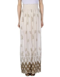 Patrizia Pepe Long Skirts Ivory