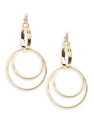 Trina Turk Goldtone Double Drop Hoops