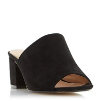 Head Over Heels Narcissa Block Heel Mule Black