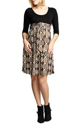 Women's Maternal America Ikat Print Tie Front Dress