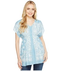 Ariat Bandana Tunic Bright Sky Women's Blouse Blue
