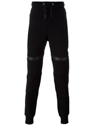 Les Hommes Knee Patch Track Pants Black