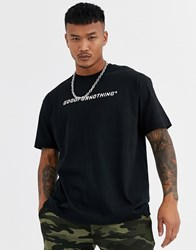 Good For Nothing Oversized T Shirt In Black With Racer Logo