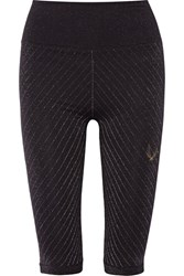 Lucas Hugh Technical Knit Stardust Metallic Stretch Leggings Black