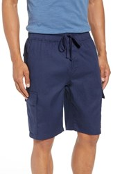 Vince Stretch Linen And Cotton Cargo Shorts Sapphire