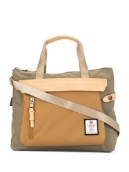 As2ov Contrast Panel Tote Brown