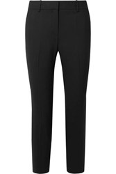Theory Treeca 2 Stretch Wool Tapered Pants Black