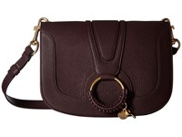See By Chloe Hana Medium Crossbody Dark Plum Handbags Multi