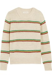 Etoile Isabel Marant Goya Striped Alpaca Blend Sweater Ecru