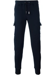 Eleventy Side Pocket Sweatpants Blue