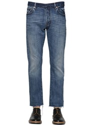 Valentino 18Cm Studded Raw Cut Hem Denim Jeans