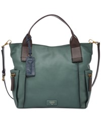 Fossil Emerson Leather Satchel Arctic Mist