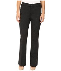 Nydj Petite Michelle Ponte Trousers Charcoal Women's Dress Pants Gray