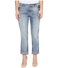 Jag Jeans Petite Alex Boyfriend Platinum Denim In Saginaw Blue Saginaw Blue Women's