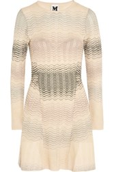 M Missoni Crochet Knit Mini Dress Ivory